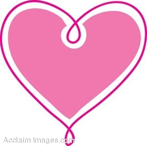 clipart hearts hot pink heart clipartclip art picture of pink.