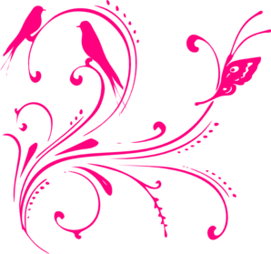 Hot pink art clipart.