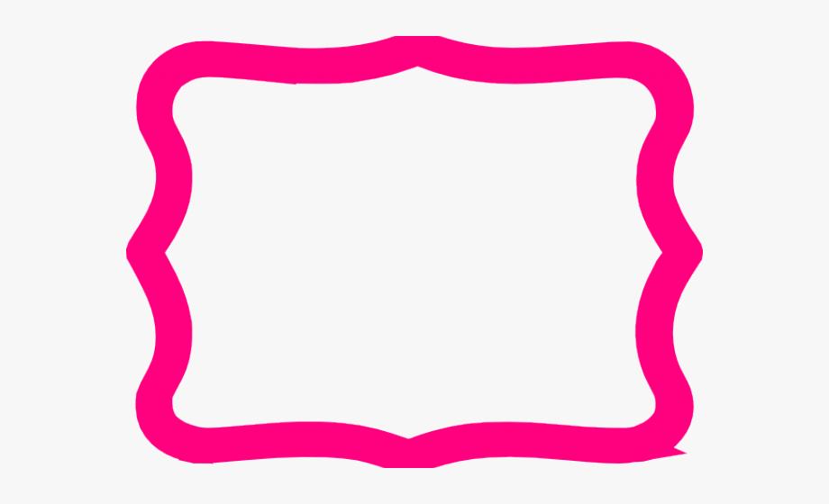 Hot Pink Border Transparent, Cliparts & Cartoons.