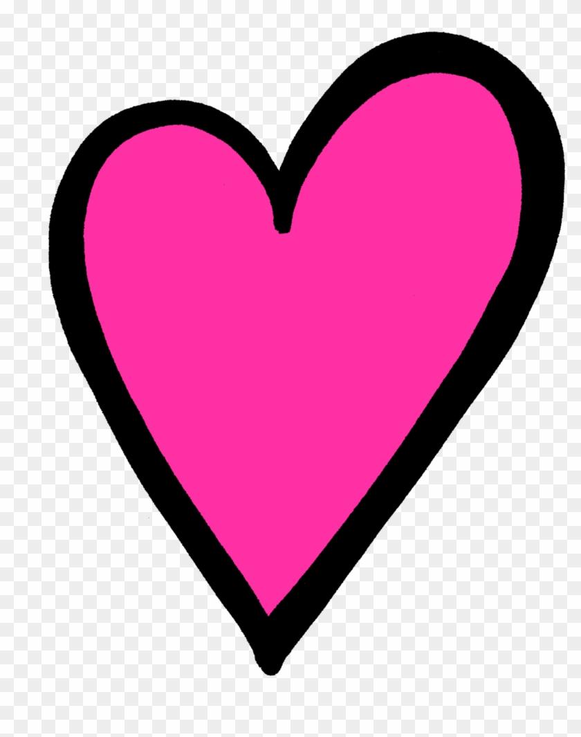 Transparent Pink Heart Clip Art.