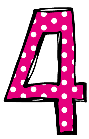 Hot Pink Polka Dot Number Birthday Clipart. Snowjet.co.
