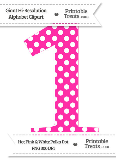 Hot Pink Number 1 Clipart.