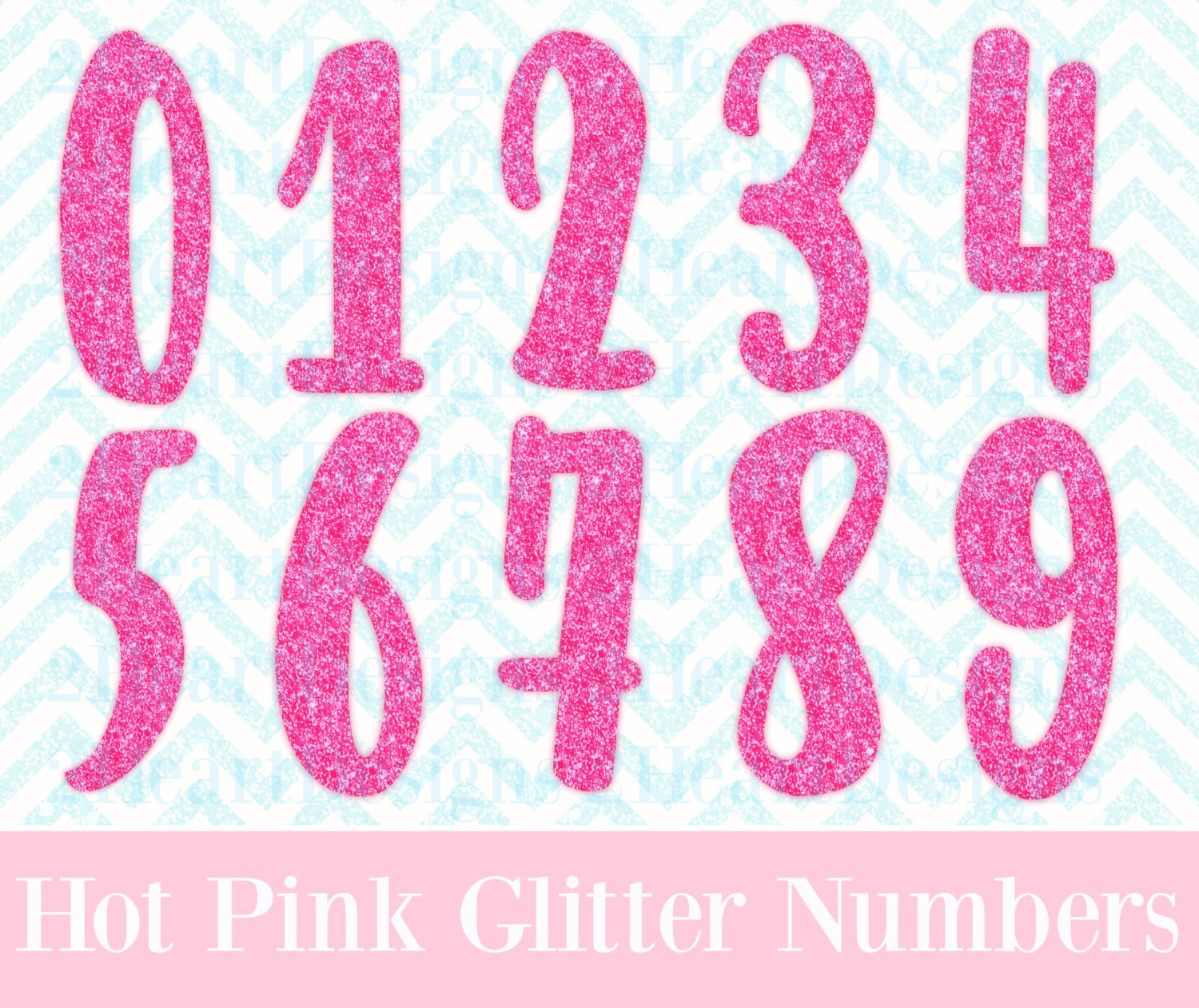 Hot Pink Number Clipart.