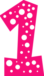 Hot Pink Number 2 Clipart.