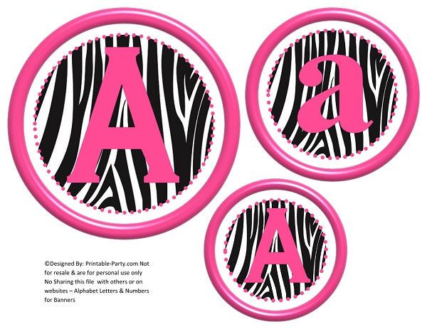 Similiar Pink Zebra Print Number 6 Keywords.