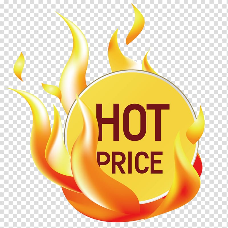 Hot Price text, Sticker Price Label, Hot tag transparent background.
