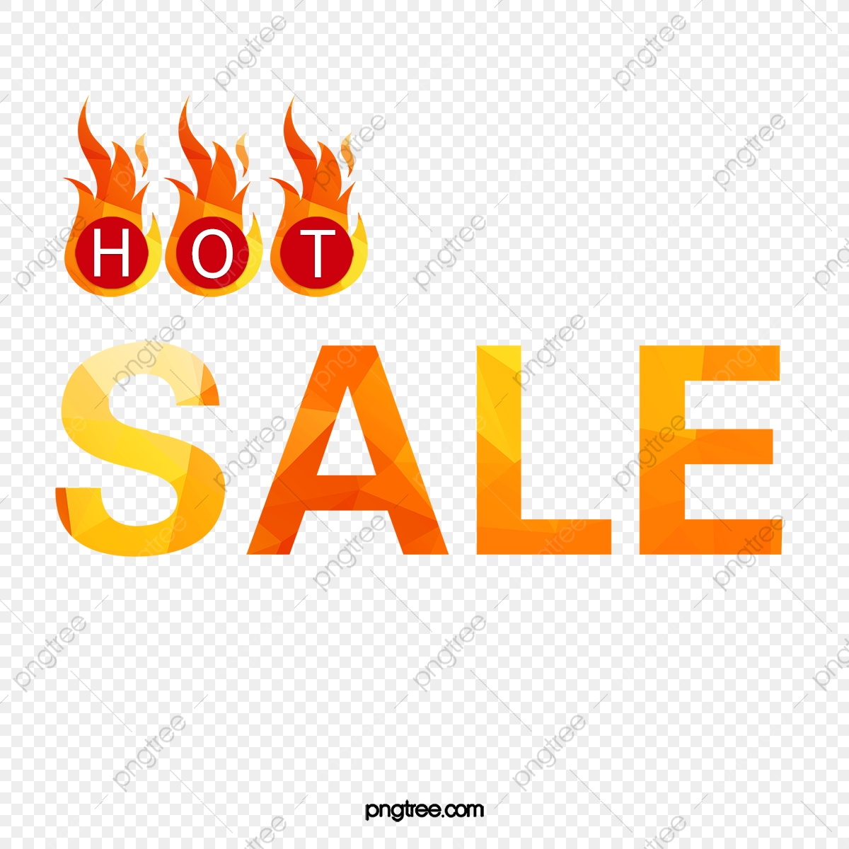 Hot Sale, Sale Clipart, Sale, Fiery PNG Transparent Clipart Image.