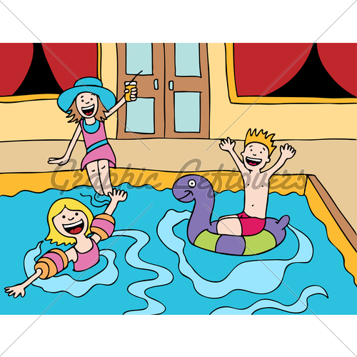 Children's Pool Party · GL Stock Images.