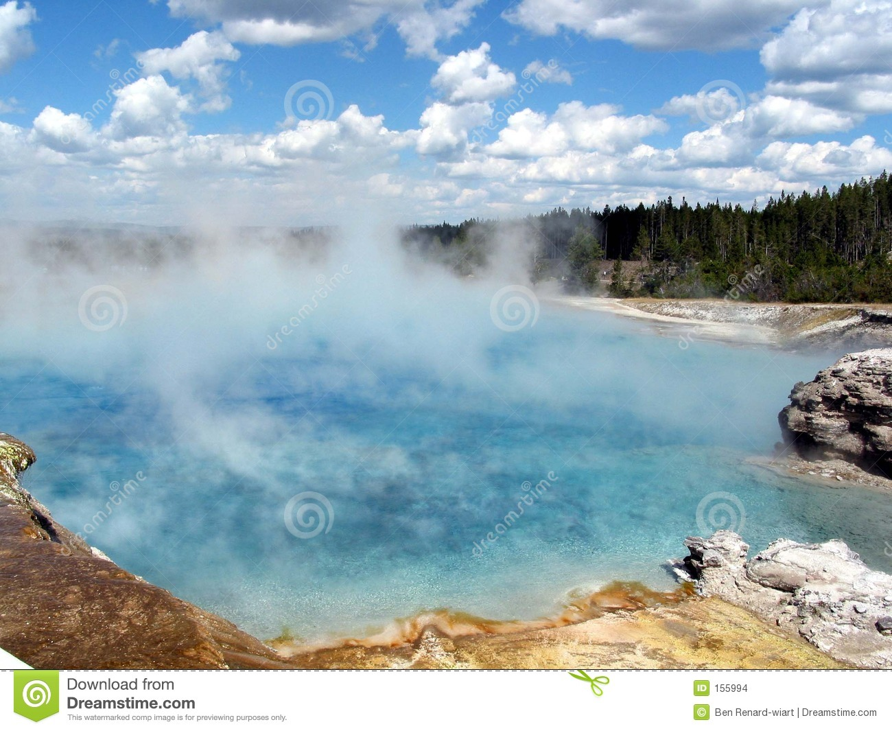 Hot Spring In Yellowstone Stock Images.
