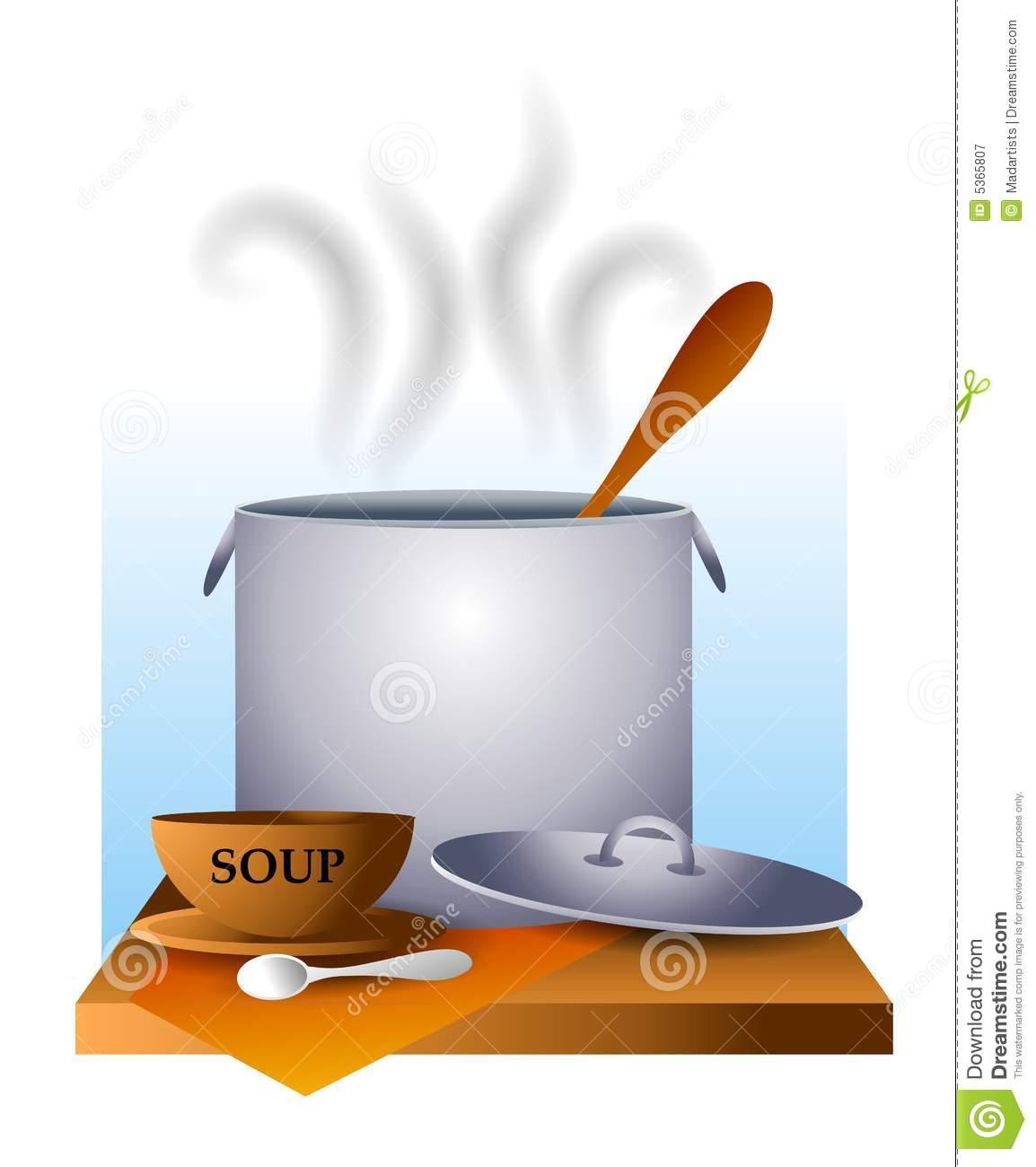 Soup Pot Clipart.