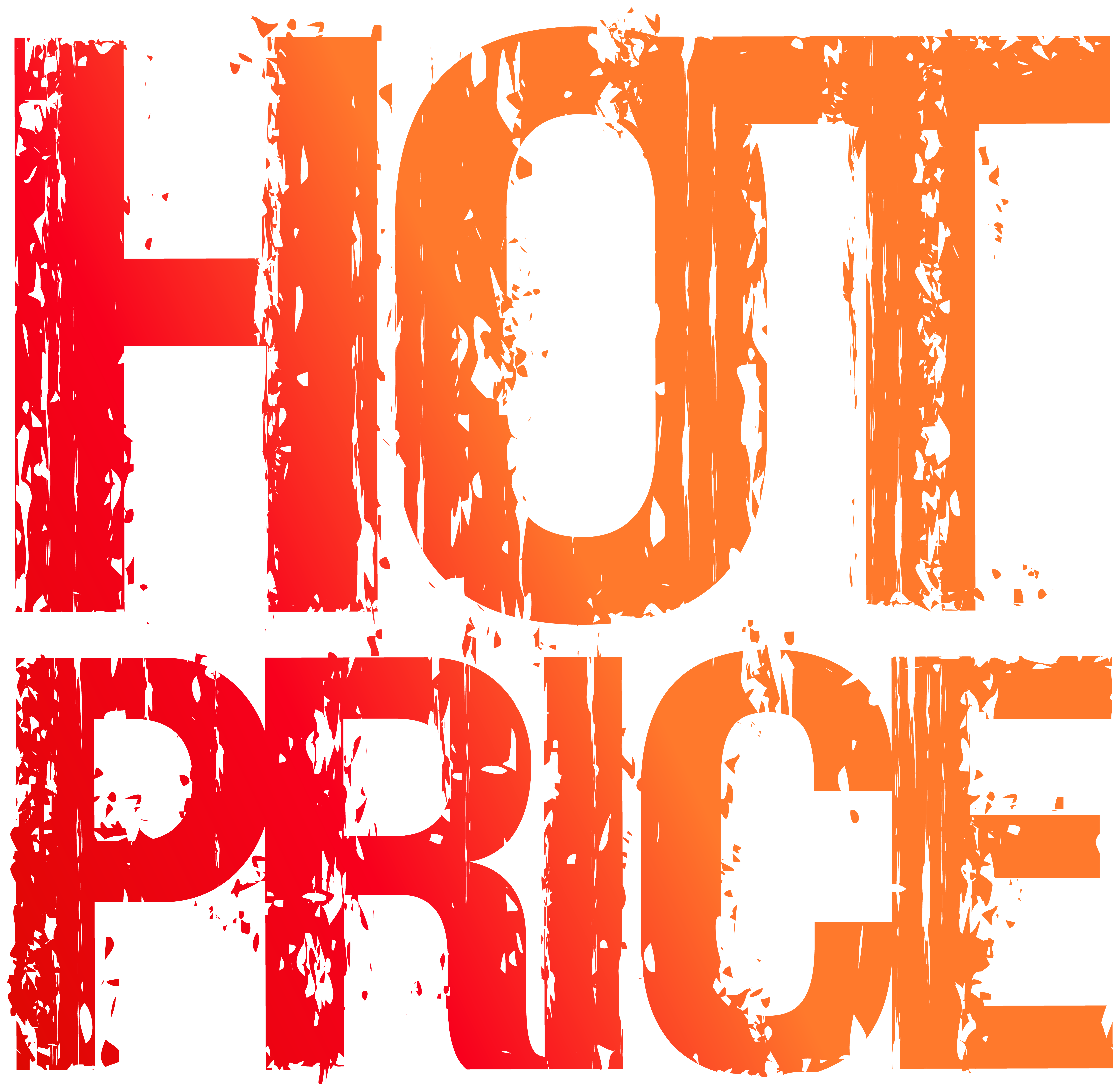 Hot Price Stamp PNG Clip Art Image.