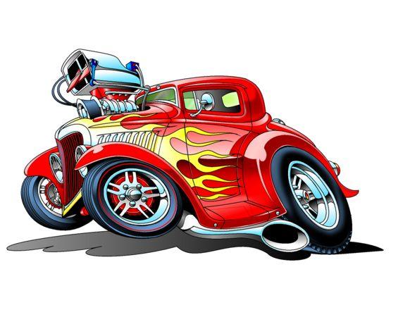 Hot Rod Clipart.