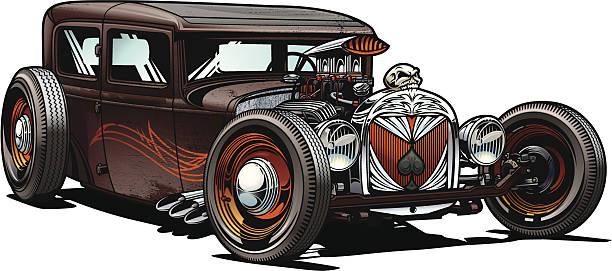 Best Hot Rod Illustrations, Royalty.