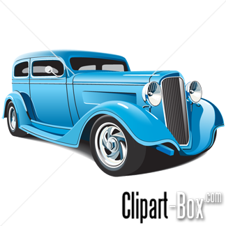 CLIPART BLUE HOT ROD.