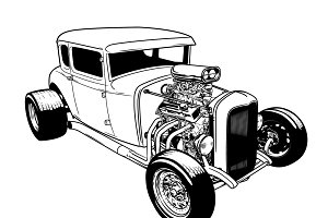 Hot Rod Clipart Black And White (100+ images in Collection) Page 1.