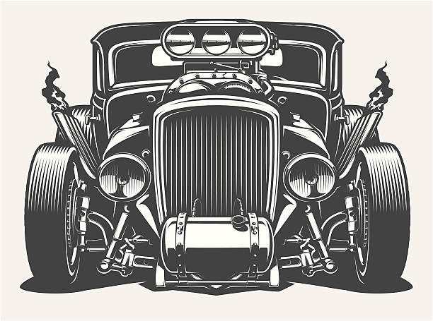 Best Hot Rod Illustrations, Royalty.