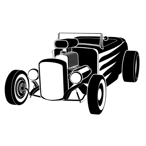 Free Clipart Of Hot Rods.