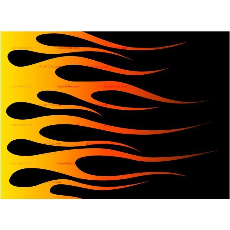 Hot rod flames stencil racing flame clip art vector.