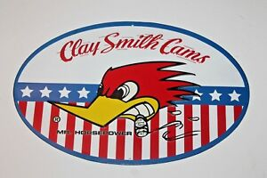 Details about CLAY SMITH CAMS MR HORSEPOWER WOODY WOOD PECKER DECOR plaque  racing hot rod logo.
