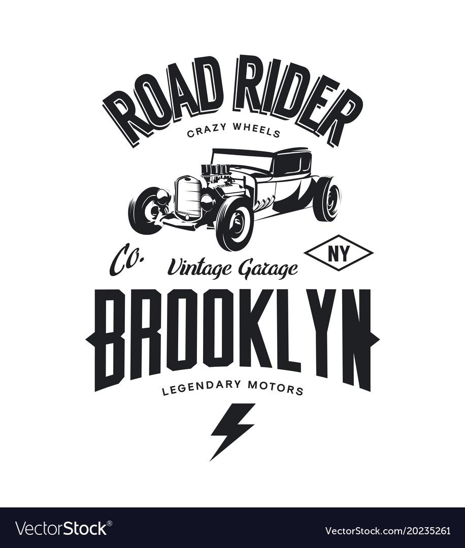 Vintage hot rod logo.