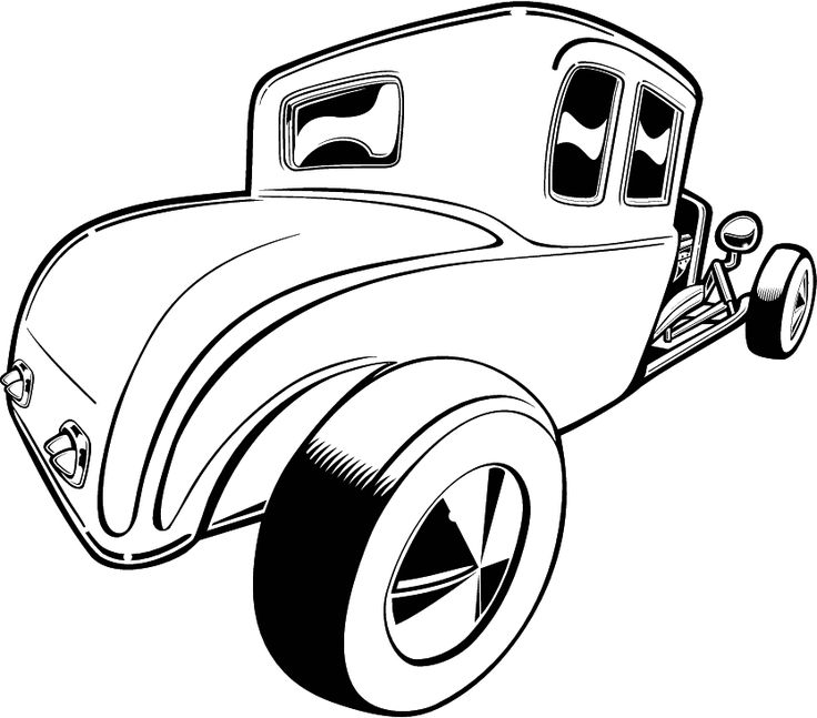hot rod street car clipart