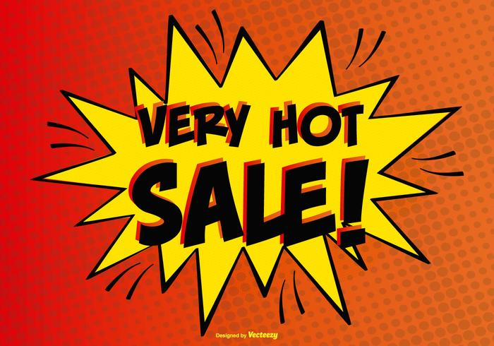 Comic Style Hot Sale Illustration.