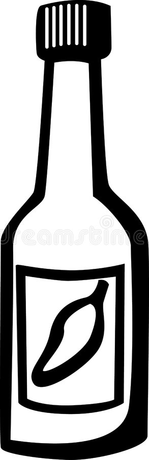 Hot Sauce Bottle stock vector. Illustration of clipart.