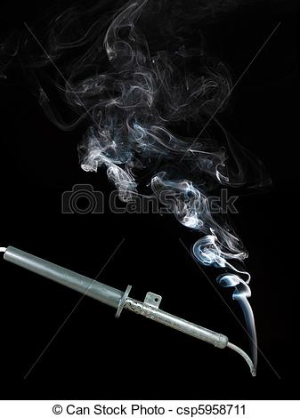 Stock Photography of Hot soldering iron.