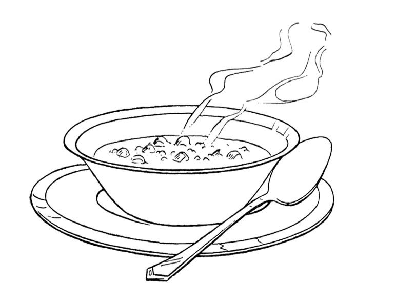 Free Soup Clipart Black And White, Download Free Clip Art, Free Clip.
