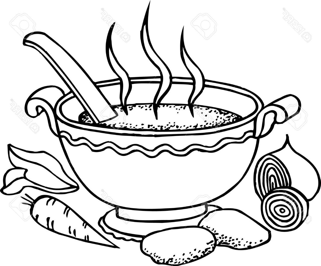 Hot soup clipart black and white 4 » Clipart Station.