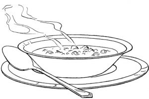 Hot soup clipart black and white 1 » Clipart Station.