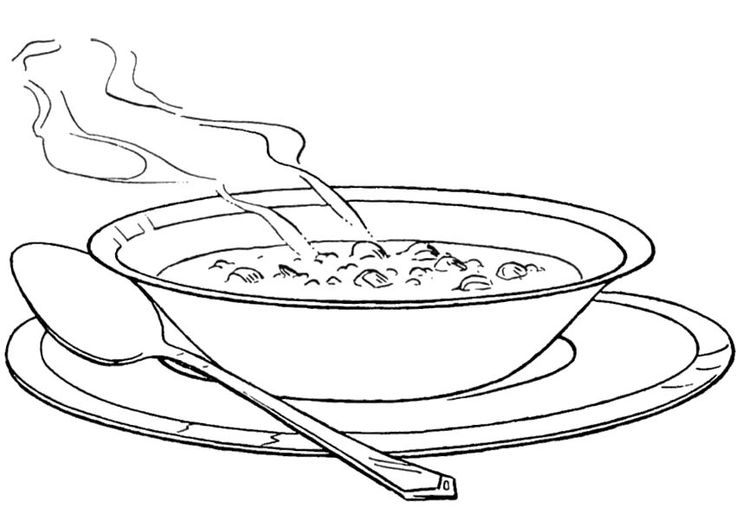 Hot soup clipart black and white 2 » Clipart Station.