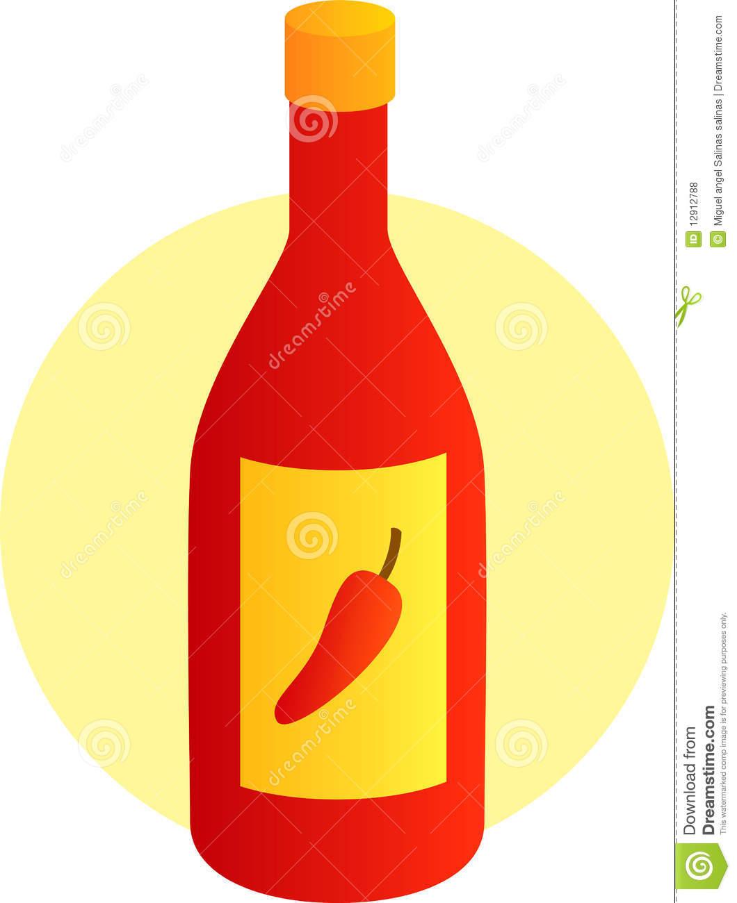 Hot sauce bottle clipart.