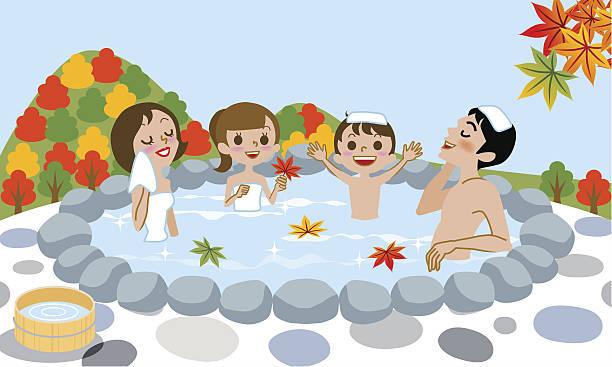 Japanese Hot Spring Clip Art, Vector Images & Illustrations.