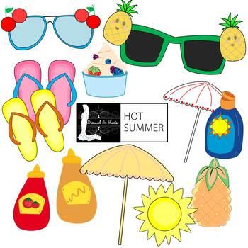 Hot Summer Clip Art.