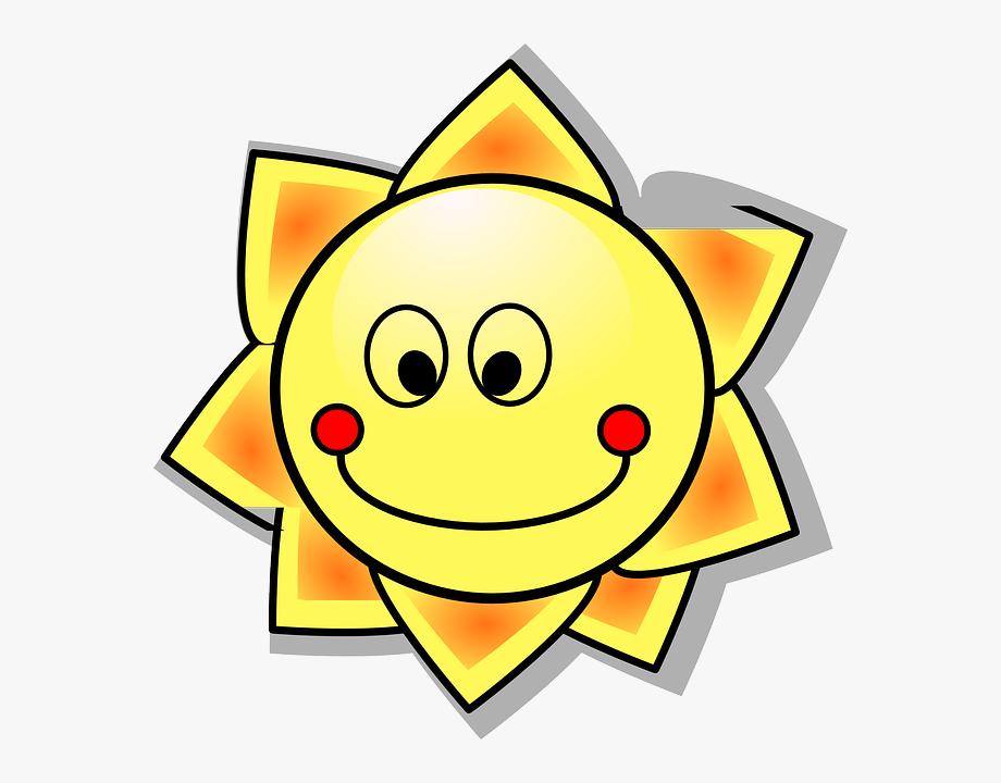 Sun, Solar, Sunshine, Cartoon, Hot, Summer, Smile.