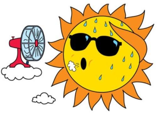 Hot Sun Clipart.