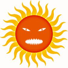 blazing hot sun clip art.