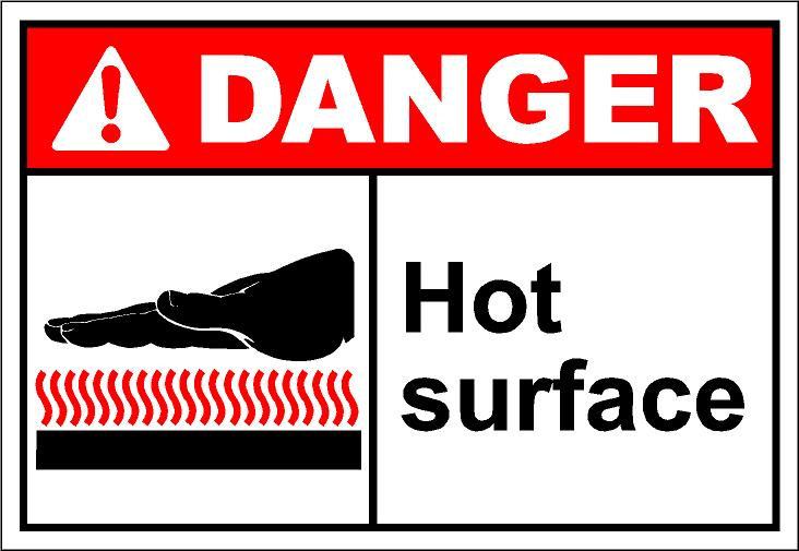 Hot surface clipart.