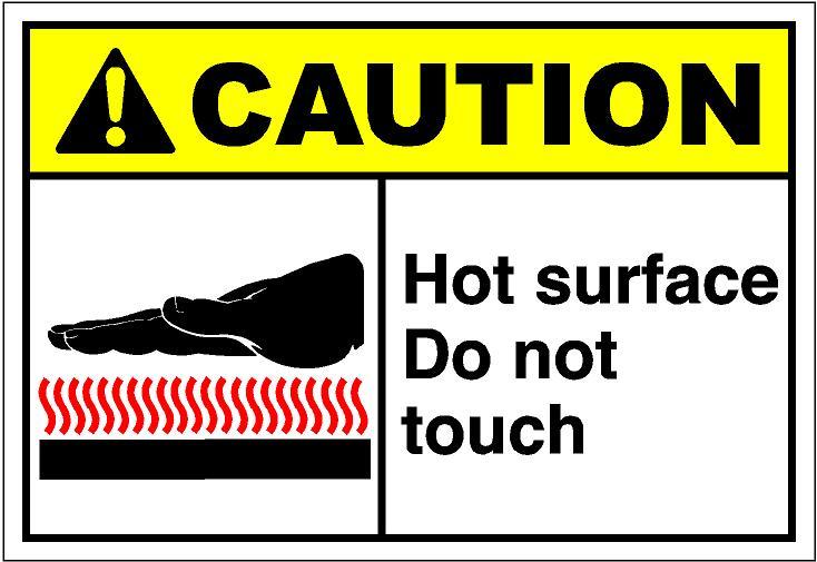 Caution hot surface clipart.