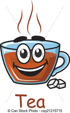 Vector Clip Art of Cartoon tea cup.