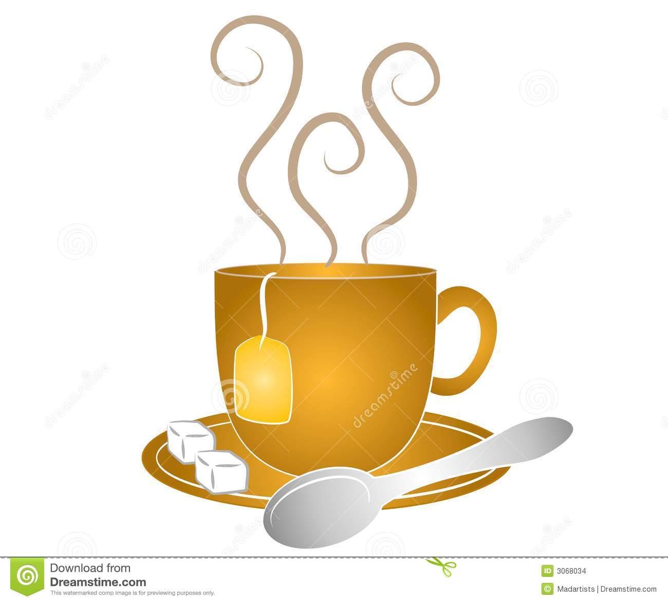Free Cup of hot tea Vector Image - 1427497 | StockUnlimited |Hot Tea Art