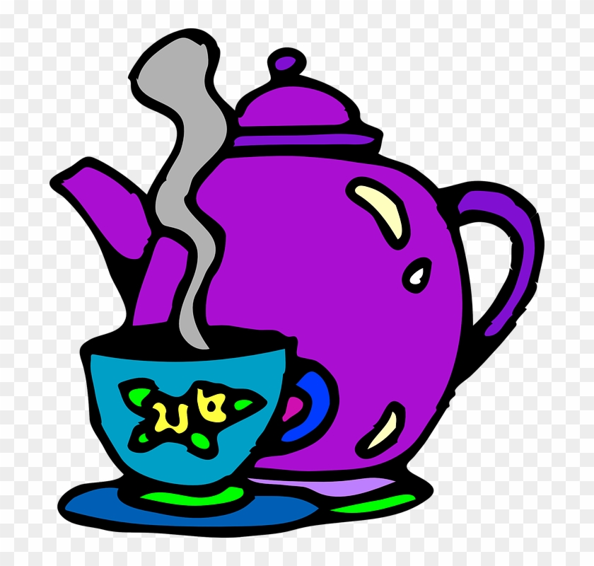 Tea Cup Clipart Hot Kettle.