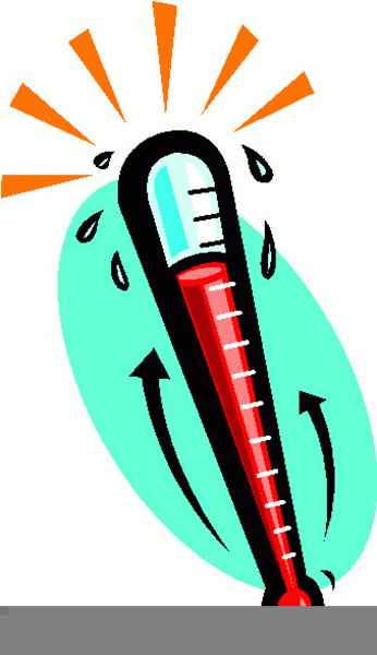 Hot Thermometer Clipart.
