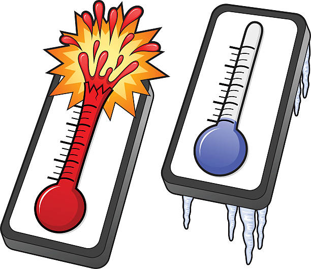 Best Hot Bursting Thermometer Illustrations, Royalty.