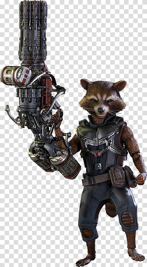 Gotg vol rocket deluxe hot toys action figure transparent.