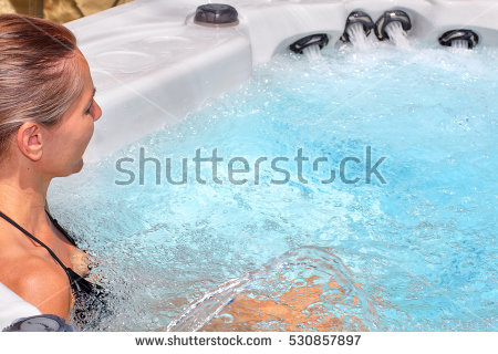 Hot Tub Stock Images, Royalty.