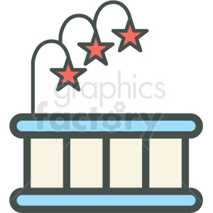 hot tub vector icon . Royalty.