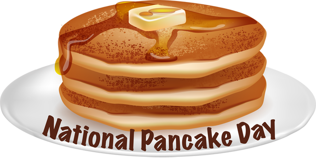 National Pancake Day.