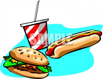 Hotdog And Hamburger Clipart.